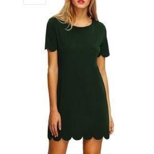 🦉/ SHEIN Green Short Sleeve Shift Dress Size S